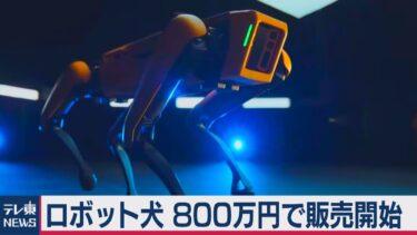 手のひらサイズの犬型ロボット「Spot」コミカルに動き回る!!